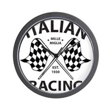 Vintage Italian Racing Wall Clock