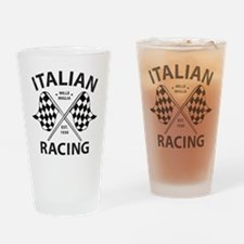 Vintage Italian Racing Drinking Glass