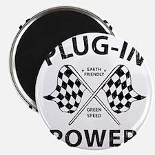 Vintage Hybrid Car Plug In Power Magnet