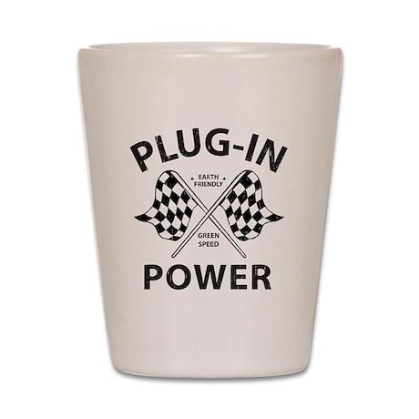 Vintage Hybrid Car Plug In Power Shot Glass