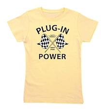 Vintage Hybrid Car Plug In Power Girl's Tee