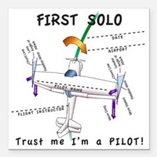 "Firstsoloshirt Square Car Magnet 3"" x 3"""