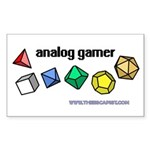 Analog Gamer Rectangle Sticker