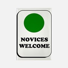 Novices Welcome Rectangle Magnet