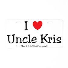 i-love-uncle-kris Aluminum License Plate