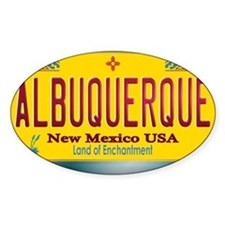 newmexico_licenseplate_albuquerque Decal