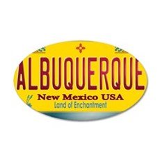 newmexico_licenseplate_albuq Wall Decal
