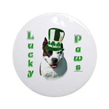 Am Staff Lucky Paws Ornament (Round)