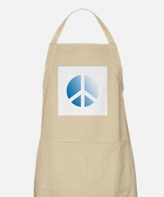 Pale Blue Stamped Peace Sign BBQ Apron