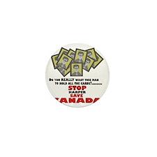 Stop Harper Save Canada Mini Button