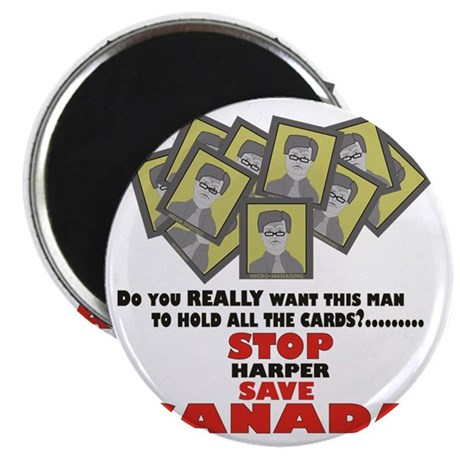 Stop Harper Save Canada Magnet