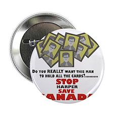 """Stop Harper Save Canada 2.25"""" Button"""