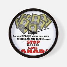 Stop Harper Save Canada Wall Clock