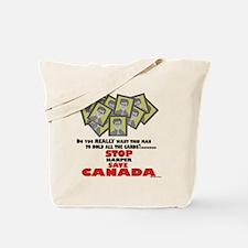 Stop Harper Save Canada Tote Bag