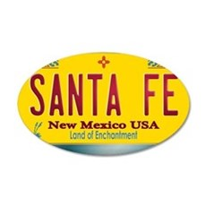 newmexico_licenseplate_santa Wall Decal