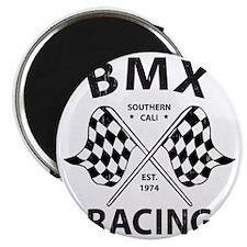 Vintage BMX Bike Racing Magnet