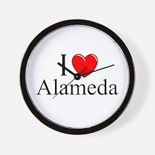 """""""I Love Alameda"""" Wall Clock"""