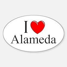 """""""I Love Alameda"""" Oval Decal"""