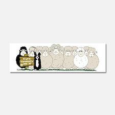 Les Moutons-Final-2 Car Magnet 10 x 3