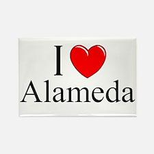 """""""I Love Alameda"""" Rectangle Magnet"""