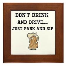 dont drink and drive Framed Tile