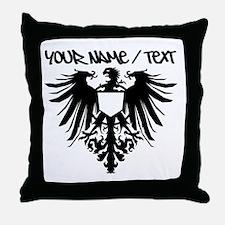 Black Polish Eagle Throw Pillow