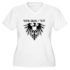 Black Polish Eagle Plus Size T-Shirt