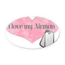 Heart airman Oval Car Magnet