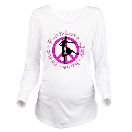 Cancer shirt_vertica Long Sleeve Maternity T-Shirt