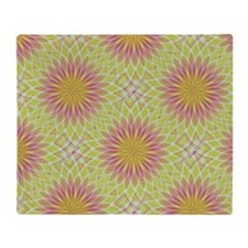 Pink Lotus Flowers Throw Blanket
