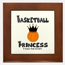 """BBallChick """"Princess"""" Framed Tile"""