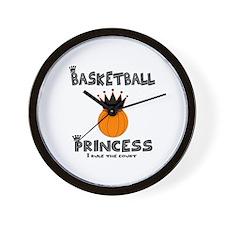 "BBallChick ""Princess"" Wall Clock"