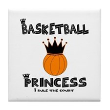 "BBallChick ""Princess"" Tile Coaster"
