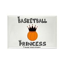 "BBallChick ""Princess"" Rectangle Magnet (10 pack)"