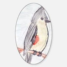 Tufted Titmouse Sticker (Oval)