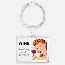 Wine Lovers Landscape Keychain