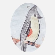 Tufted Titmouse Oval Ornament