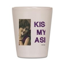Kiss My Ash Shot Glass