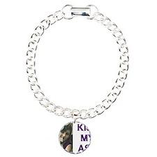 Kiss My Ash Charm Bracelet, One Charm