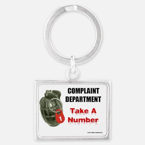 Complaint Department Landscape Keychain