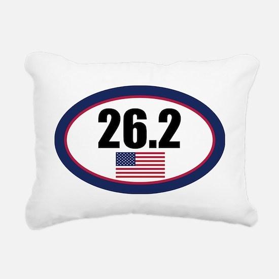 USA-262-OVALsticker Rectangular Canvas Pillow