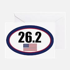 USA-262-OVALsticker Greeting Card