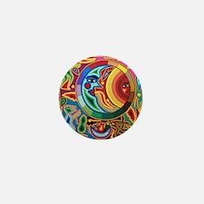 Mexican_String_Art_Image_Sun_Moon_78_i Mini Button