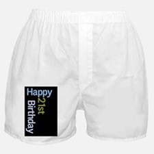 21 birthday blue green Boxer Shorts
