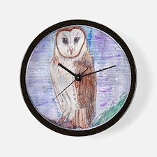 Owl in Moonlight Wall Clock