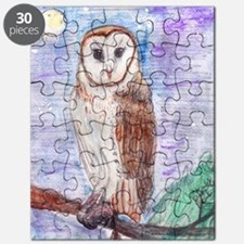 Owl in Moonlight Puzzle