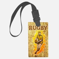 rugby player passing ball Luggage Tag
