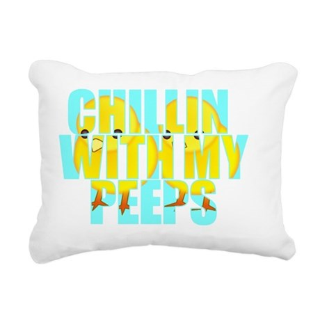 chillin-with-my-peeps Rectangular Canvas Pillow