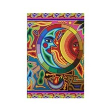Mexican_String_Art_Image_Sun_Moon Rectangle Magnet