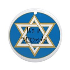 mitzvah Round Ornament